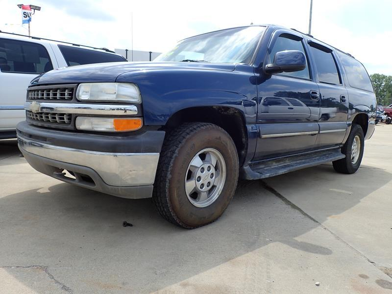 2002 CHEVROLET SUBURBAN 1500 LS 4WD 4DR SUV blue running boards front air conditioning rear air