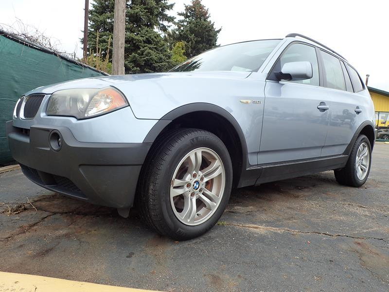 2005 BMW X3 30I AWD 4DR SUV blue none 106000 miles VIN WBXPA93405WD06740