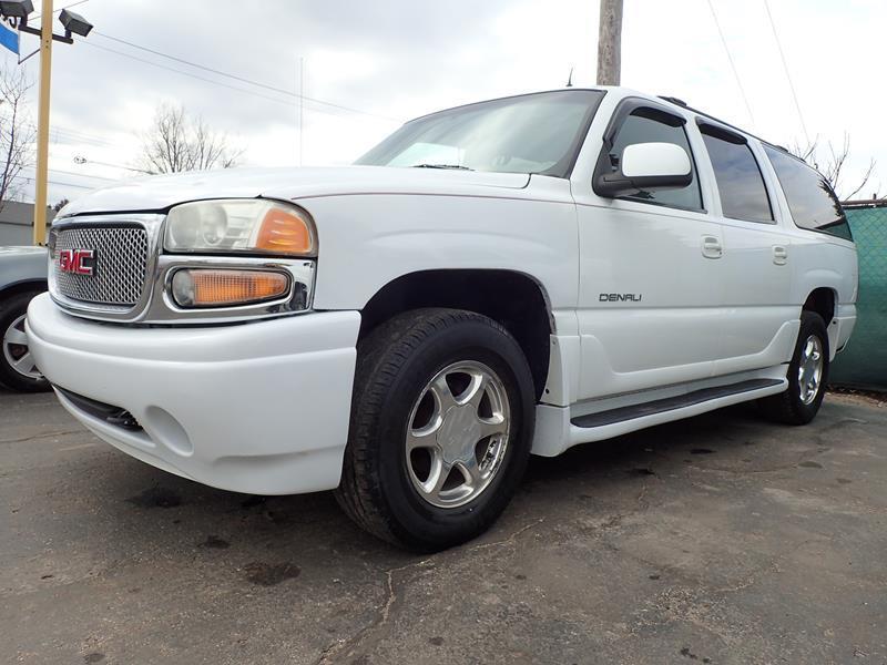 2002 GMC YUKON XL DENALI AWD 4DR SUV white none 176556 miles VIN 1GKFK66U62J203896