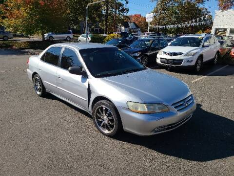 2002 Honda Accord for sale at BETTER BUYS AUTO INC in East Windsor CT