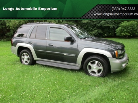 2004 Chevrolet TrailBlazer LT for sale at Longs Automobile Emporium Inc in Atwater OH