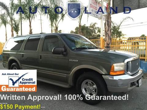 2000 Ford Excursion for sale at Auto Land in Bloomington CA