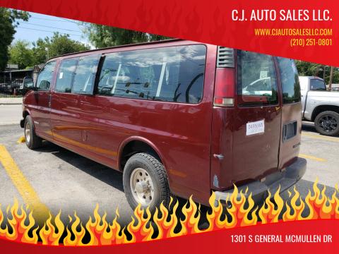 2000 Chevrolet Express Passenger for sale at C.J. AUTO SALES llc. in San Antonio TX