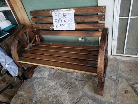 banca wheel wagon antique bench for sale at C.J. AUTO SALES llc. in San Antonio TX