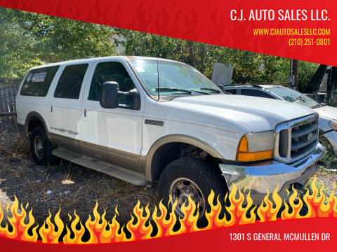 2000 Ford Excursion for sale at C.J. AUTO SALES llc. in San Antonio TX