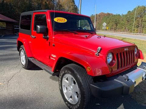 2011 Jeep Wrangler for sale in Blue Ridge, GA