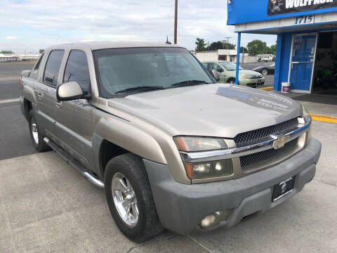 2002 Chevrolet Avalanche for sale at WolfPack PowerSports And Auto Sales in Moses Lake WA
