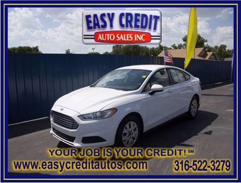 2014 Ford Fusion for sale at Easy Credit Auto Sales, Inc. in Wichita KS