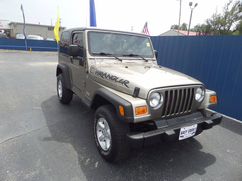 2003 Jeep Wrangler for sale at Easy Credit Auto Sales, Inc. in Wichita KS