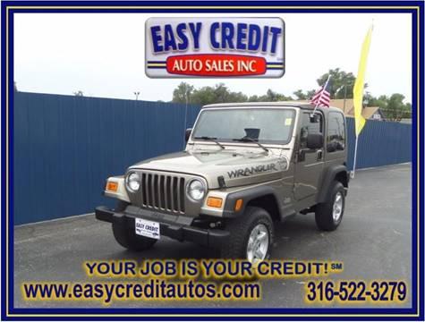 2003 Jeep Wrangler for sale at Easy Credit Auto Sales, Inc. in Wichita KS