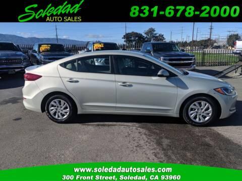 2017 Hyundai Elantra for sale at Soledad Auto Sales in Soledad CA