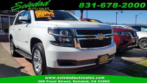 2019 Chevrolet Tahoe for sale at Soledad Auto Sales in Soledad CA