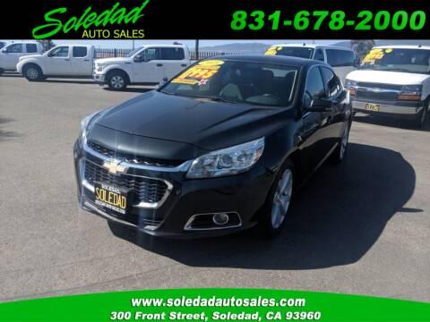 2015 Chevrolet Malibu for sale at Soledad Auto Sales in Soledad CA