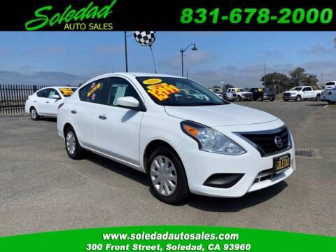 2018 Nissan Versa for sale at Soledad Auto Sales in Soledad CA