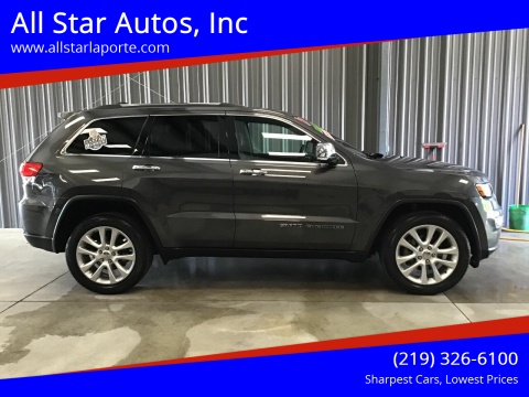 2017 Jeep Grand Cherokee for sale at All Star Autos, Inc in La Porte IN