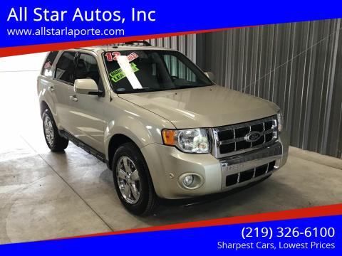2012 Ford Escape for sale at All Star Autos, Inc in La Porte IN