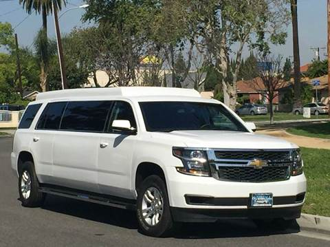 2015 White 70-inch Chevrolet Tahoe Uber Limousine for Sale #628