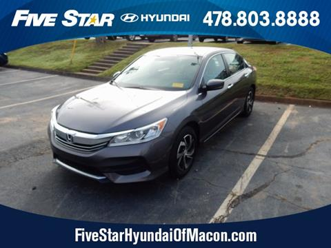 2016 Honda Accord for sale in Macon GA