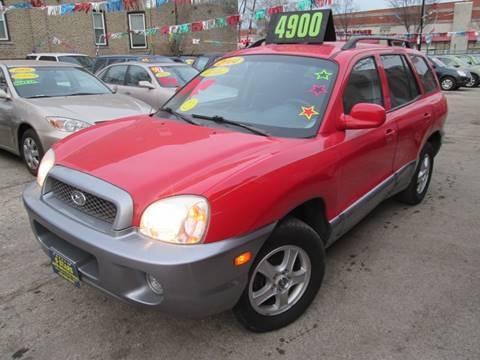 2004 Hyundai Santa Fe for sale at 5 Stars Auto Service and Sales in Chicago IL