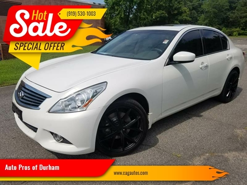 Infiniti G37 Sedan For Sale In Durham Nc Auto Pros Of Durham