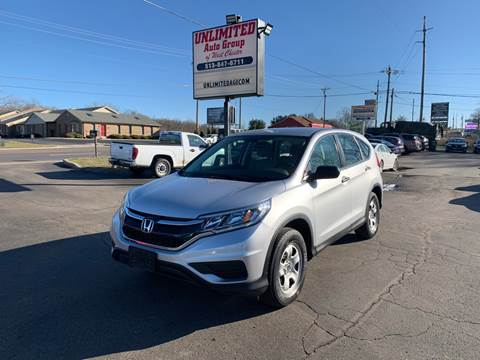 2016 Honda CR-V for sale at Unlimited Auto Group in West Chester OH