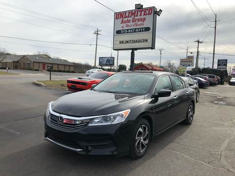 2017 Honda Accord for sale at Unlimited Auto Group in West Chester OH