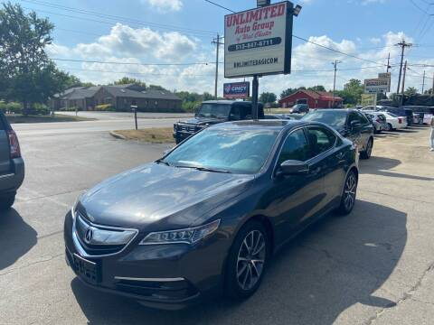2016 Acura TLX for sale at Unlimited Auto Group in West Chester OH