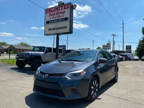 2016 Toyota Corolla for sale at Unlimited Auto Group in West Chester OH