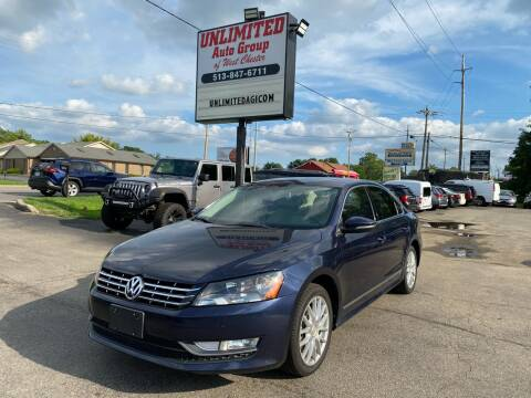 2012 Volkswagen Passat for sale at Unlimited Auto Group in West Chester OH
