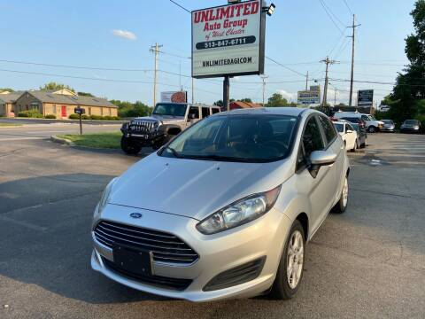 2016 Ford Fiesta for sale at Unlimited Auto Group in West Chester OH