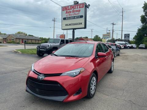 2018 Toyota Corolla for sale at Unlimited Auto Group in West Chester OH