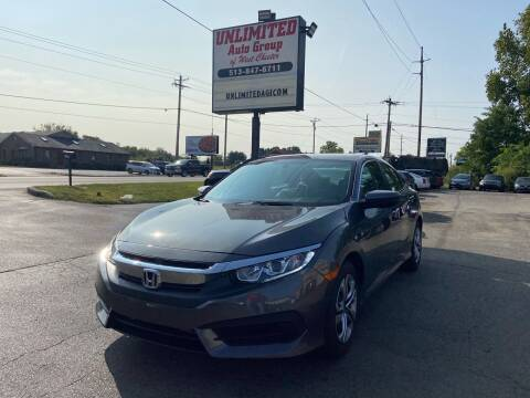 2016 Honda Civic for sale at Unlimited Auto Group in West Chester OH