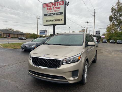 2015 Kia Sedona for sale at Unlimited Auto Group in West Chester OH