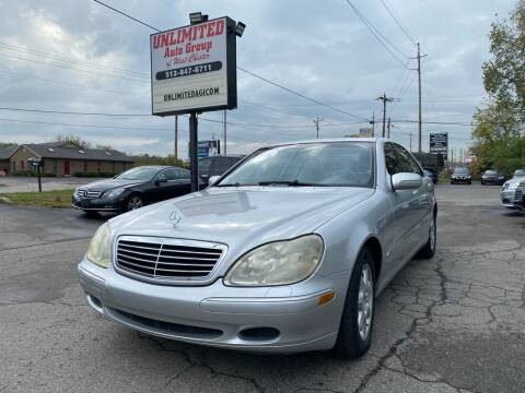 2000 Mercedes-Benz S-Class for sale at Unlimited Auto Group in West Chester OH