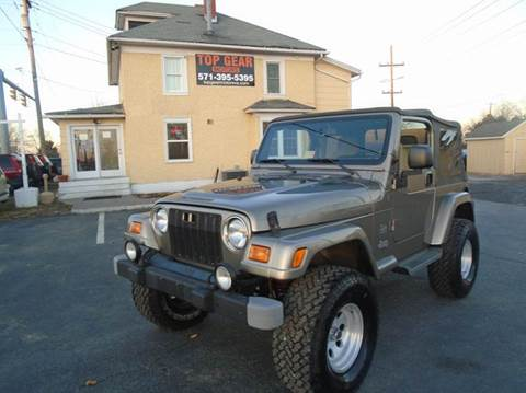 2004 Jeep Wrangler for sale at Top Gear Motors in Winchester VA