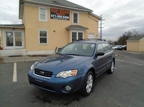 2006 Subaru Outback for sale at Top Gear Motors in Winchester VA