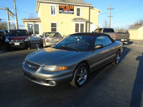 1998 Chrysler Sebring for sale at Top Gear Motors in Winchester VA