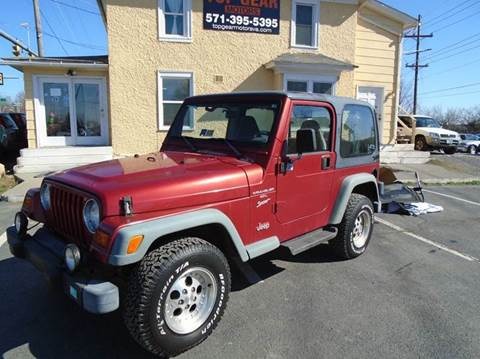 1999 Jeep Wrangler for sale at Top Gear Motors in Winchester VA
