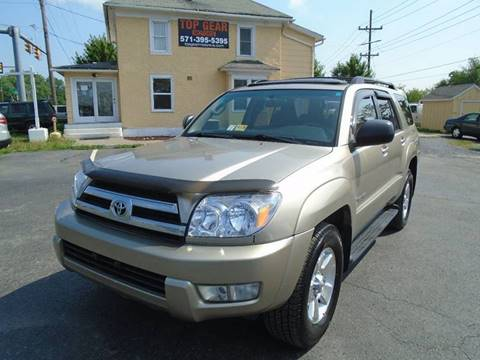 2005 Toyota 4Runner for sale at Top Gear Motors in Winchester VA