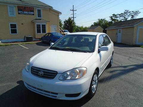 2004 Toyota Corolla for sale at Top Gear Motors in Winchester VA