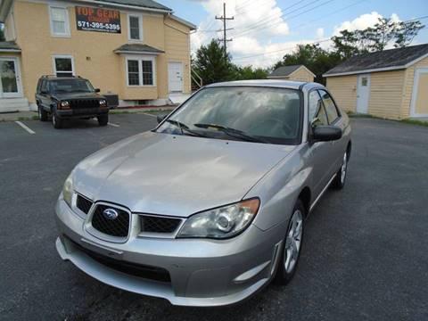 2006 Subaru Impreza for sale at Top Gear Motors in Winchester VA