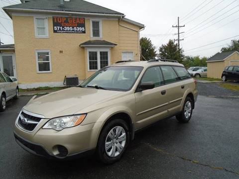 2008 Subaru Outback for sale at Top Gear Motors in Winchester VA