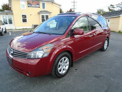 2008 Nissan Quest for sale at Top Gear Motors in Winchester VA
