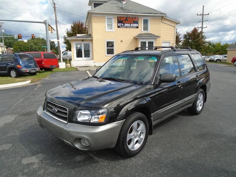 2004 Subaru Forester for sale at Top Gear Motors in Winchester VA