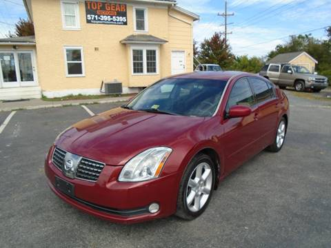 2004 Nissan Maxima for sale at Top Gear Motors in Winchester VA