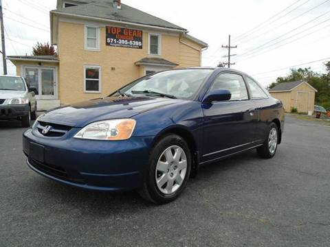 2002 Honda Civic for sale at Top Gear Motors in Winchester VA