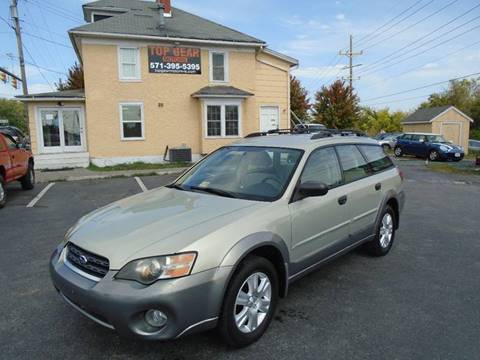 2005 Subaru Outback for sale at Top Gear Motors in Winchester VA