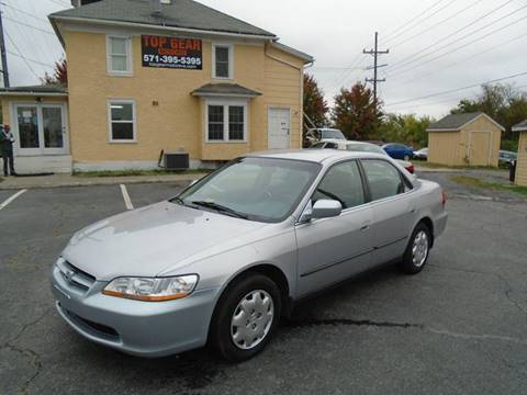 1999 Honda Accord for sale at Top Gear Motors in Winchester VA