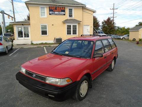 1991 Toyota Corolla for sale at Top Gear Motors in Winchester VA