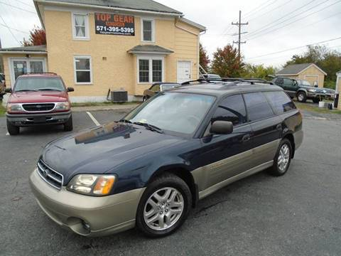2002 Subaru Outback for sale at Top Gear Motors in Winchester VA